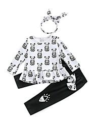 cheap -Baby Girls' Print Long Sleeves Clothing Set