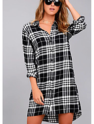 cheap -Women's Work Shirt Dress Shirt Collar