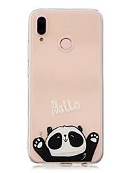 Недорогие -Кейс для Назначение Huawei P20 Pro / P10 Plus Прозрачный / С узором Кейс на заднюю панель Панда Мягкий ТПУ для Huawei P20 / Huawei P20 Pro / Huawei P20 lite / P10 Lite