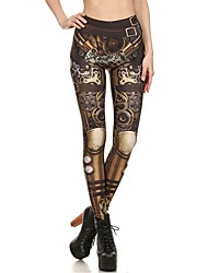 cheap -Women's Metallic / Sporty Legging - Tribal, Print High Waist