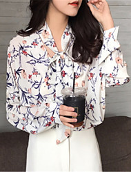 cheap -women's blouse - floral shirt collar