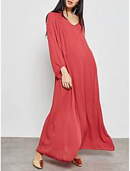 economico -Per donna sofisticato Moda città Tubino T Shirt Swing Vestito Tinta unita Maxi