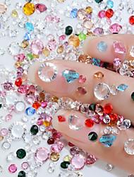 baratos -2 pcs Kit de Brocas para Nail Art Cristal arte de unha Manicure e pedicure Casamento / Festa / Dia a Dia Metálico