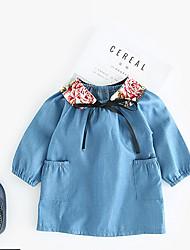 cheap -Baby Girls' Floral Long Sleeve Dress