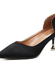 preiswerte -Damen Schuhe Seide Herbst Pumps / Komfort High Heels Stöckelabsatz für Schwarz / Gelb / Fuchsia