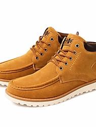 baratos -Homens sapatos Pele Nobuck Outono Conforto / Coturnos Botas Botas Curtas / Ankle Preto / Azul / Khaki