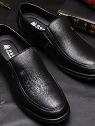 cheap -Men's Cowhide Winter Comfort Loafers & Slip-Ons Black
