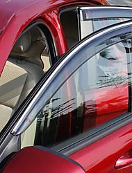 Недорогие -4шт Автомобиль Дефлекторы и щиты прозрачный Тип пряжки / Тип пасты For Автомобильное окно For Ford Escort 2017 / 2016 / 2015