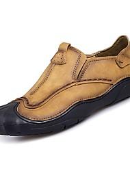Недорогие -Муж. Наппа Leather Лето Удобная обувь Мокасины и Свитер Коричневый / Хаки