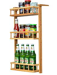 baratos -Organização de cozinha Prateleiras e Suportes Bambu Fácil Uso 1pç