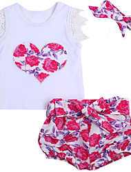 cheap -Baby Girls' Print Sleeveless Clothing Set