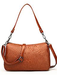 cheap -Women's Bags leatherette / PU Tote Zipper Black / Brown / Wine