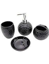 baratos -Jogo de Acessórios para Banheiro Suporte para Escova de Dentes Saboneteiras e acionistas Criativo Cerâmica 4pçs - Banho do hotel Banheiro