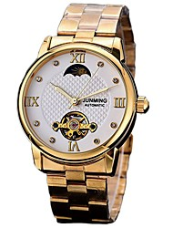 cheap -Men's Mechanical Watch Chinese Chronograph / Hollow Engraving / Large Dial Stainless Steel Band Luxury / Fashion Gold