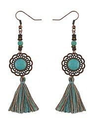 baratos -Mulheres Brincos Compridos - Vintage / Fashion Dourado / Prata Forma Geométrica Brincos Para Cerimônia / Para Noite