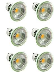 abordables -6pcs 7W 500lm GU10 / MR16 Spot LED 1 Perles LED COB Intensité Réglable / Décorative Blanc Chaud / Blanc Froid 220-240V