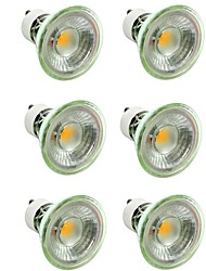 preiswerte -6pcs 7W 500lm GU10 / MR16 LED Spot Lampen 1 LED-Perlen COB Abblendbar / Dekorativ Warmes Weiß / Kühles Weiß 220-240V