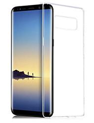 Недорогие -Кейс для Назначение SSamsung Galaxy Note 8 Прозрачный Кейс на заднюю панель Однотонный Мягкий ТПУ для Note 8