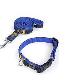 cheap -Dogs / Cats Collar / Leashes Walking / Anti Lost / Running Solid Colored Fabric Blue / Pink / Black