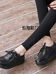 676e8200d8 Women's Shoes Leather Spring & Summer Comfort Athletic Shoes Wedge Heel  Black / Yellow / Red