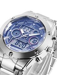 Недорогие -ASJ Муж. Спортивные часы электронные часы Японский Черный / Белый 30 m Защита от влаги Будильник Календарь Аналого-цифровые Роскошь - Белый Черный Синий Один год Срок службы батареи / Хронометр
