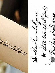 Недорогие -10 pcs Временные тату Временные татуировки Серия сообщений Искусство тела рука