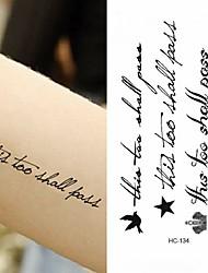 abordables -Adhesivo / Pegatina tatuaje brazo Los tatuajes temporales 10 pcs Serie de mensajes Artes de cuerpo