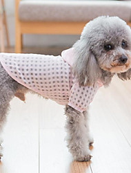 cheap -Dogs / Cats Coat / Hoodie Dog Clothes Plaid / Check Green / Pink Terylene Costume For Pets Female Ordinary / Leisure