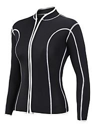abordables -Mujer Camisa de neopreno 2mm Licra / Neopreno Trajes de buceo / Top Manga Larga Natación / Buceo / Surfing Un Color Invierno