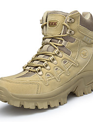 billiga -Herr Fashion Boots Nubuckläder / PU Höst Komfort Stövlar Vandring / Promenad Korta stövlar / ankelstövlar Svart / Ljusbrun