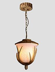 cheap -Artistic Country Pendant Light Downlight - Matte, 110-120V 220-240V Bulb Not Included