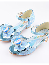 cheap -Girls' Shoes Leatherette Spring Flower Girl Shoes Sandals Bowknot for Kids Outdoor Silver Blue Pink