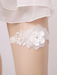 baratos -Renda De Renda Wedding Garter  -  Apliques / Floral Ligas Casamento / Festas & Noite