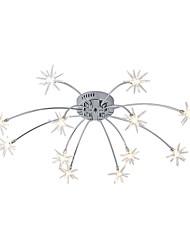 billiga -JLYLITE Takmonterad Glödande Elektropläterad Metall Glas Ministil 110-120V / 220-240V Glödlampa inkluderad / G4 / SAA / FCC / VDE
