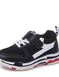 Недорогие -Мальчики Обувь Полотно Весна лето Удобная обувь Кеды На липучках для Черный / Серый