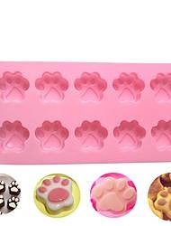Недорогие -1pc 10 отверстий кошки собаки когти силиконовый торт формы diy шоколад, украшающий инструмент для выпечки 3-х мерные куклы для мыла