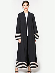 cheap -Women's Vintage Coat - Solid Colored / Striped V Neck / Spring / Summer