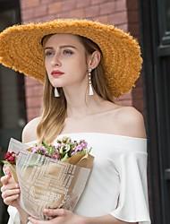 baratos -Fibra Natural Chapéus com Vime 1pç Casual / Roupa Diária Capacete