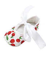 cheap -Girls' Shoes Fabric Fall Comfort / First Walkers / Crib Shoes Flats Bowknot for Baby / Infant White / Wedding / Party & Evening