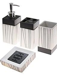 baratos -Jogo de Acessórios para Banheiro / Suporte para Escova de Dentes / Saboneteiras e acionistas Criativo Cerâmica 4pçs - Banheiro