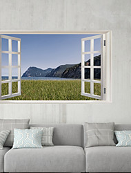 Недорогие -Декоративные наклейки на стены / Наклейки на холодильник - 3D наклейки Пейзаж / 3D Гостиная / В помещении