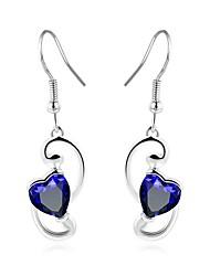 cheap -Women's Drop / Heart Drop Earrings / With Gift Box - Fashion Silver Heart Rate Earrings For Wedding / Daily