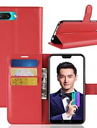 economico -Custodia Per Huawei Honor 10 Porta-carte di credito / A portafoglio / Con chiusura magnetica Integrale Tinta unita Resistente pelle