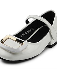 cheap -Girls' Shoes Leatherette Spring & Fall Comfort / Flower Girl Shoes Heels Hook & Loop for Kids White / Black / Pink