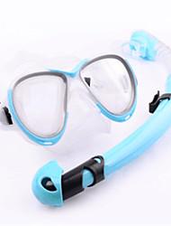 billiga Sport och friluftsliv-WAVE Snorklingspaket / Dykning Paket - Dykmaske, Snorkel - Anti-dimma, Justerbar Längd, Mjuk Simmning, Dykning, Snorkelfenor Silikon  För