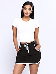 baratos -Mulheres Sofisticado / Moda de Rua Bodycon Saias - Sólido