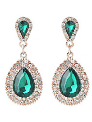 cheap -Crystal Long Drop Earrings - Drop Sweet, Fashion, Elegant Black / Green / Blue For Wedding / Party / Evening