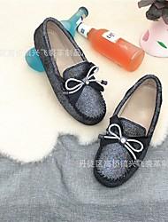 abordables -Femme Chaussures Cuir Printemps Eté Confort Ballerines Talon Plat pour De plein air Blanc Noir Gris Rouge