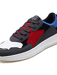 cheap -Men's Light Soles Fabric Fall Sneakers Color Block White / Black / Light Grey