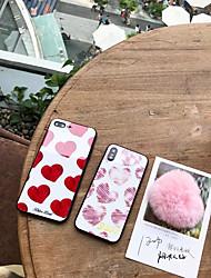 economico -Custodia Per Apple iPhone X iPhone 7 Plus A prova di sporco Per retro Con cuori Resistente Vetro temperato per iPhone X iPhone 8 Plus